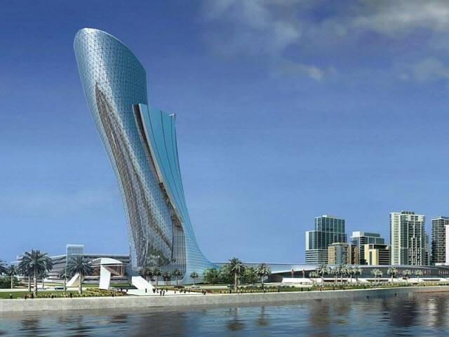 برج ابو ظبى المائل