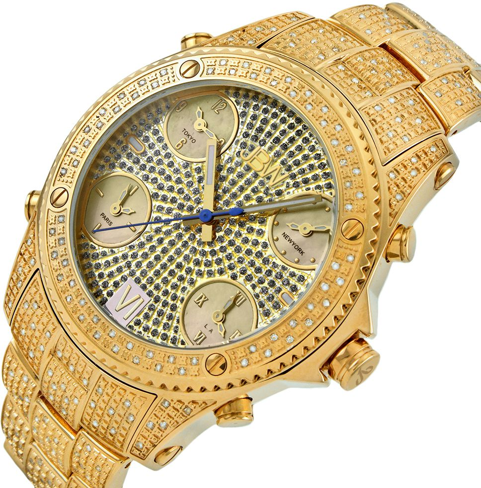 JBW Jet Setter Men's 234 Diamonds Gold
