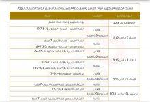 صورة جدول امتحانات الاختبارات الوطنية بالامارات 2016 نهاية الفصل الدراسى الثانى