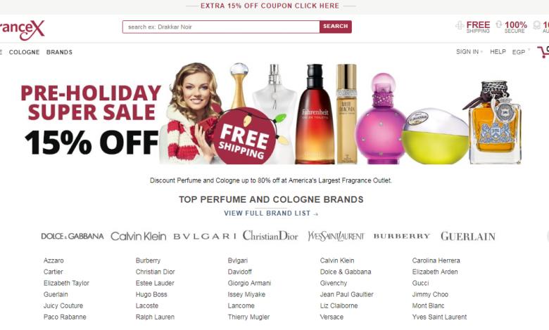 صورة تعرف على متجر فراجرانس اكس الامارات FragranceX UAE بالاضافة كوبونات خصم وتخفيضات